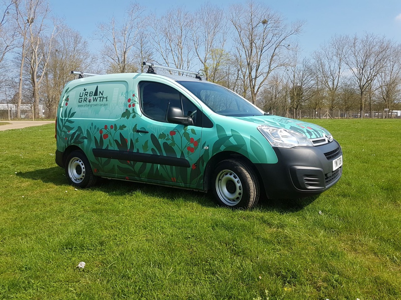 urban growth van wrap photo illustration