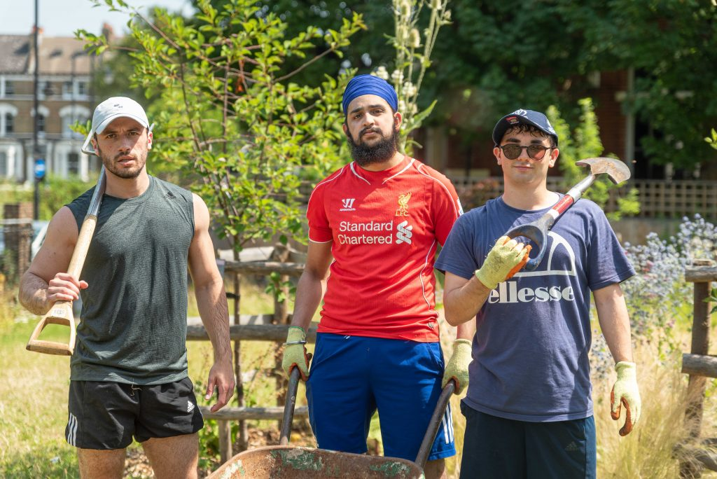 santander corporate volunteers brixton orchard urban growth
