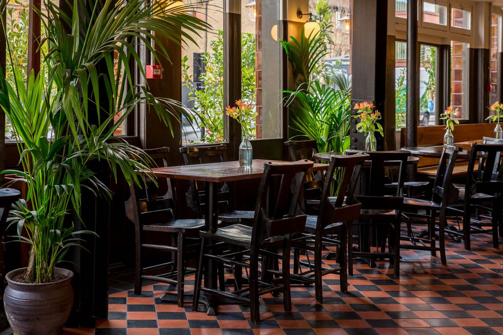 urban growth duke of york pub garden london interior