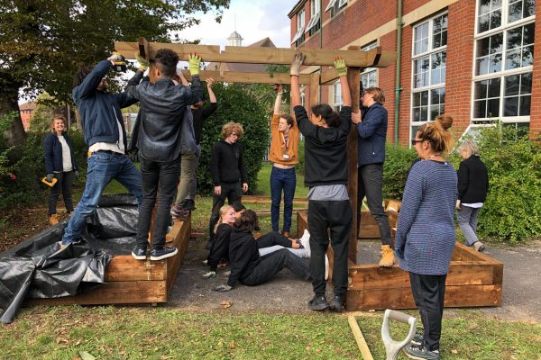 planting brit school urban growth timberland nature needs heroes pergola